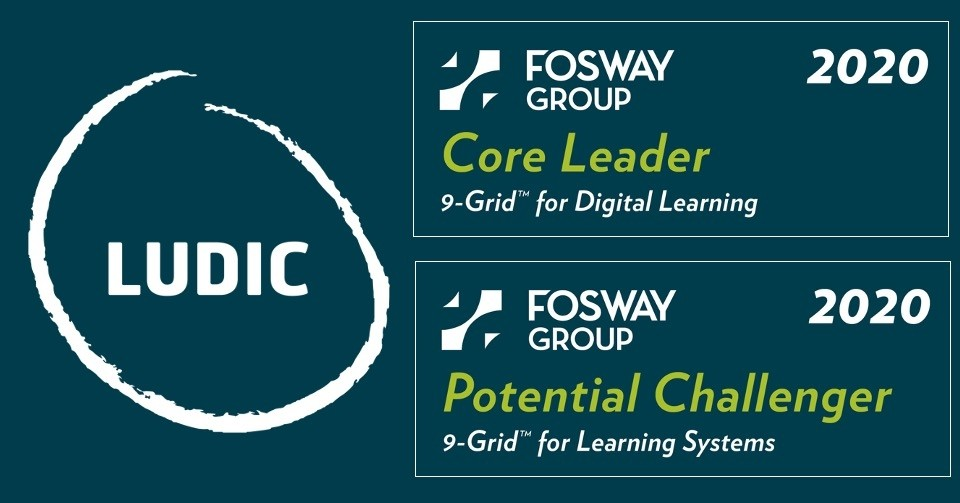 Ludic strengthens its position as a Core Leader on the Fosway 9-Grid™ for Digital Learning and enters the Fosway 9-Grid™ for Learning Systems.